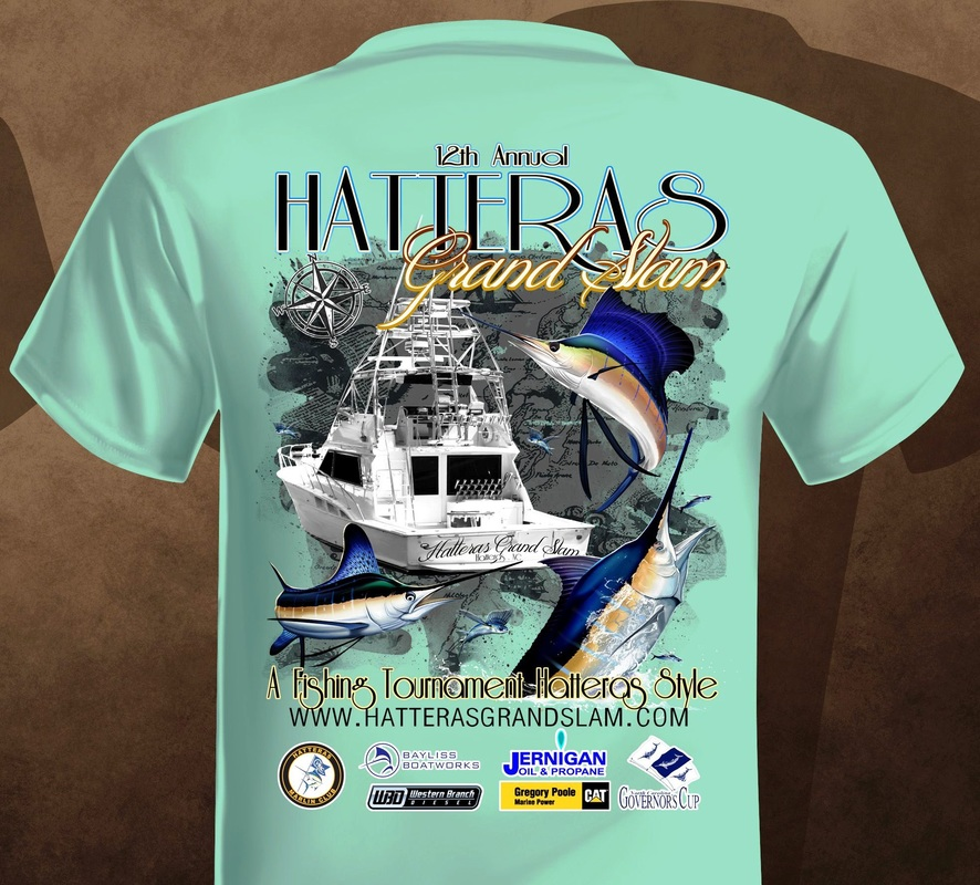 2016 tournament shirts 14th annual hatteras grand slam for Fishing jerseys for sale